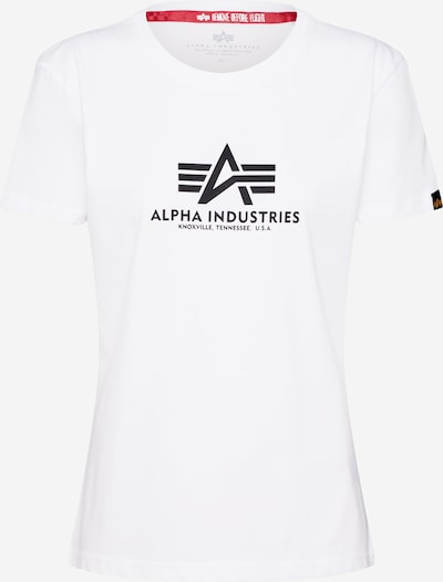 ALPHA INDUSTRIES T-Krekls melns / balts, Preces skats