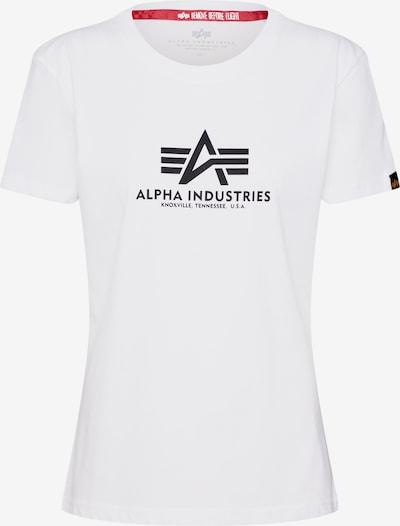 ALPHA INDUSTRIES Shirt 'New Basic T Wmn' in de kleur Wit, Productweergave