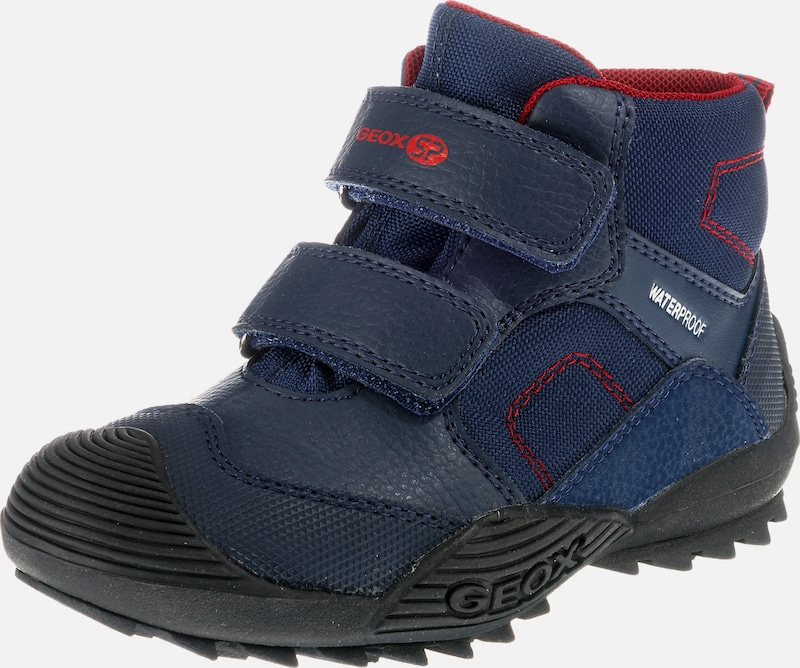GEOX Kids Stiefel 'Atreus Boy Wpf' in navy rot   ABOUT YOU