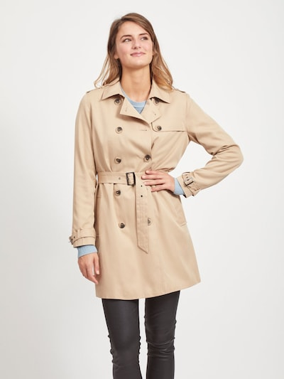 VILA Trenchcoat in beige, Modelansicht
