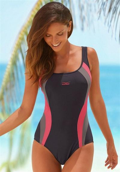 VENICE BEACH Badeanzug in grau / pink, Modelansicht