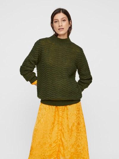 Y.A.S Pullover  'Brentrice' in khaki, Modelansicht
