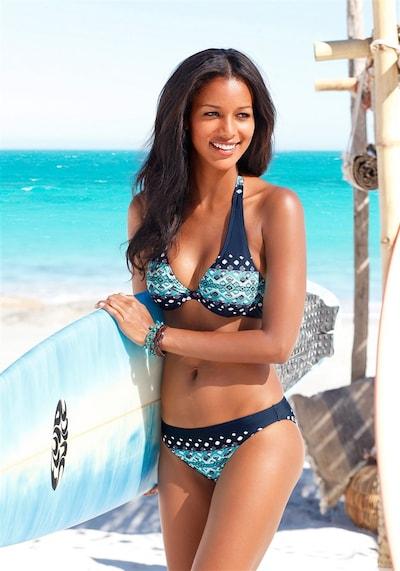 KangaROOS Bügel-Bikini in elfenbein / blau, Modelansicht