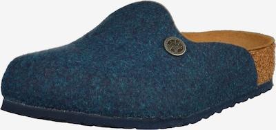 BIRKENSTOCK Clogs 'Amsterdam' in blue denim / cognac, Produktansicht