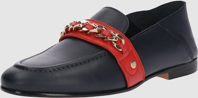 TOMMY HILFIGER Instappers in Navy / Goud / Rood