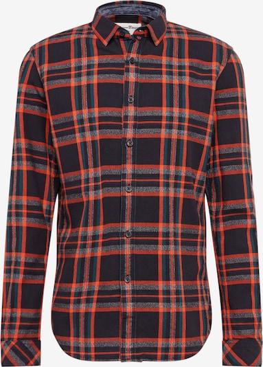 TOM TAILOR DENIM Hemd in petrol / rot / schwarz, Produktansicht