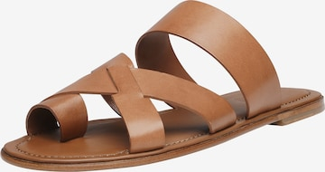 SHOEPASSION T-Bar Sandals 'No. 9113 MP' in Brown
