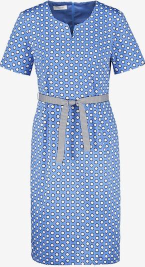 GERRY WEBER Kleid in rauchblau / nachtblau / weiß, Produktansicht