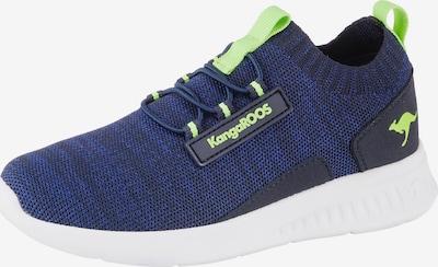 KangaROOS Sneakers in blau / neongrün, Produktansicht