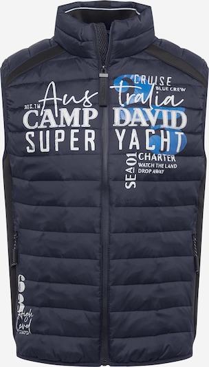 CAMP DAVID Brezrokavnik | kobalt modra / bela barva, Prikaz izdelka