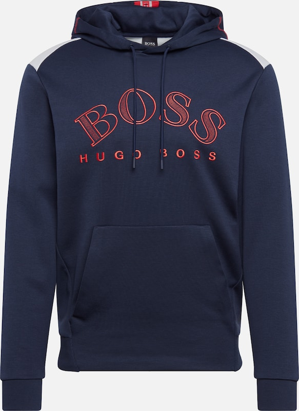 BOSS ATHLEISURE Sweatshirt 'Soody' in de kleur Navy, Productweergave
