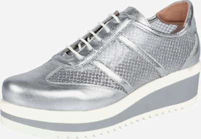 heine Sneaker in silber / weiß: Frontalansicht