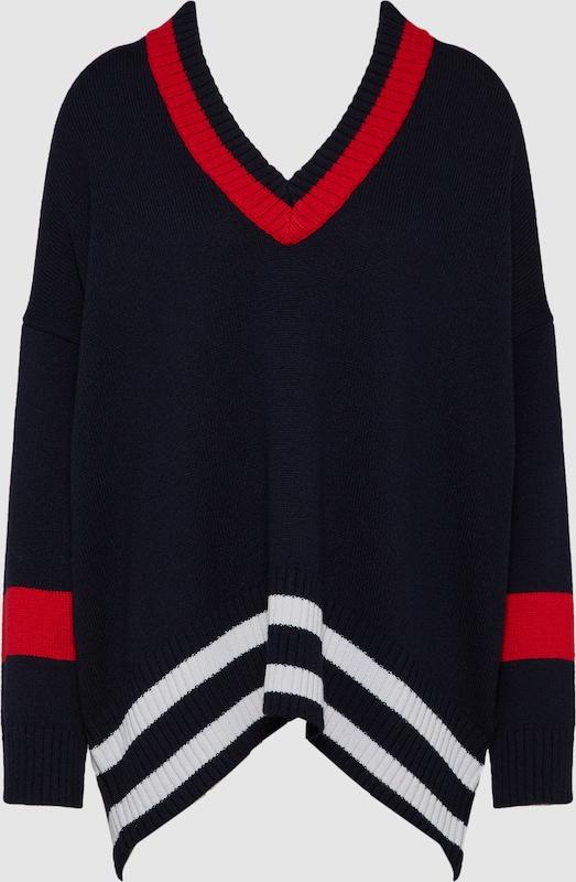REPLAY Pullover in nachtblau   rot   weiß  Neuer Aktionsrabatt