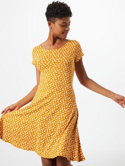 ABOUT YOU Letní šaty 'Claude' - hořčicová / bílá, Model/ka