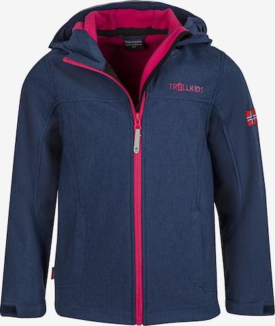 TROLLKIDS Softshelljacke 'Oppland' in navy / pink, Produktansicht