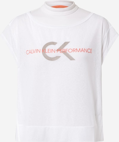 Calvin Klein Performance T-Shirt in grau / orange / naturweiß, Produktansicht