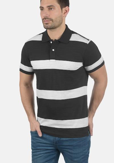 BLEND Poloshirt 'Fritz' in schwarz: Frontalansicht
