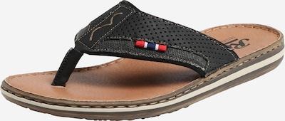 RIEKER Teenslippers 'Comfy' in de kleur Bruin / Zwart, Productweergave