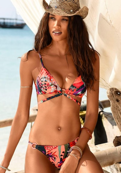 JETTE Bikini en sapin / rouge / grenadine, Vue avec modèle
