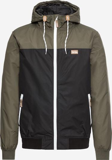 Iriedaily Jacke 'Auf Deck' in braun / oliv / schwarz / weiß, Produktansicht