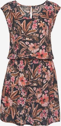 LASCANA Sommerkleid in beige / apricot / pink / schwarz, Produktansicht