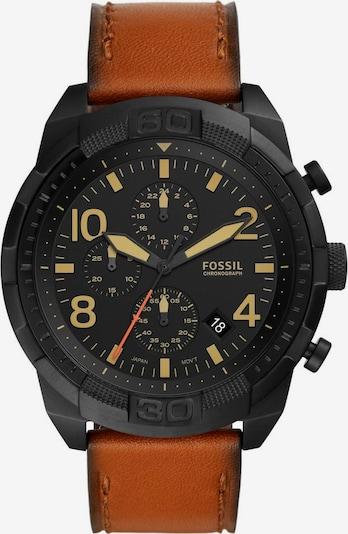 FOSSIL Аналогов часовник 'Bronson' в кафяво / черно, Преглед на продукта