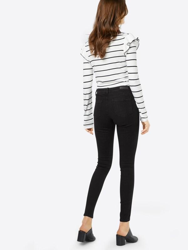 TOM TAILOR DENIM Skinny Jeans 'Nela Black Rinsed'