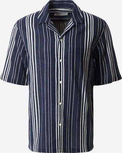 Samsoe Samsoe Hemd 'Oscar AC' in dunkelblau / offwhite, Produktansicht