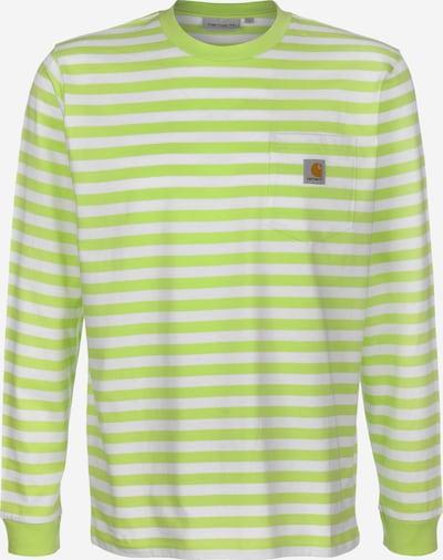 Carhartt WIP Longsleeve ' Scotty Pocket ' in grasgrün / weiß, Produktansicht