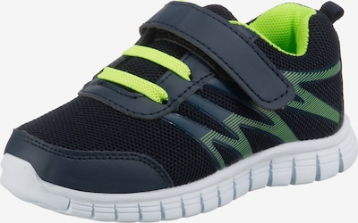 D.T. NEW YORK Sneaker in navy / kiwi, Produktansicht