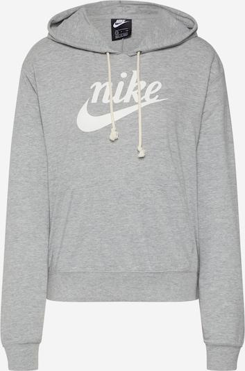 Nike Sportswear Sweat-shirt 'W NSW GYM VNTG HOODIE HBR' en gris / blanc, Vue avec produit