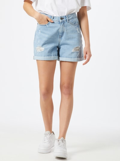 Noisy may Jeansshorts 'SMILEY' in blue denim, Modelansicht