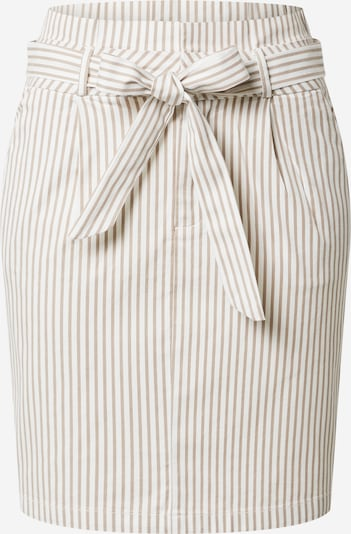 VERO MODA Rok 'Eva' in de kleur Taupe / Wit, Productweergave