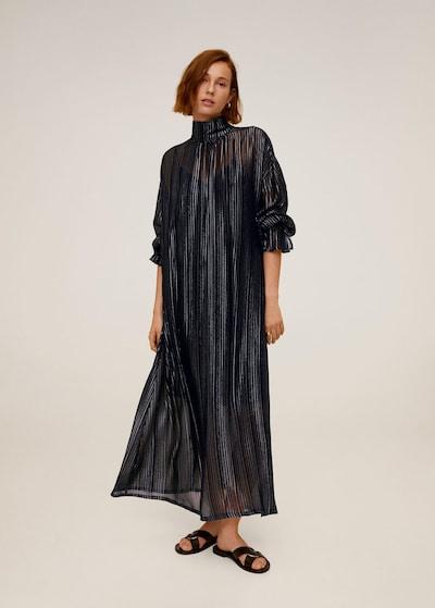 MANGO Kleid 'Gingum' in navy / silber, Modelansicht