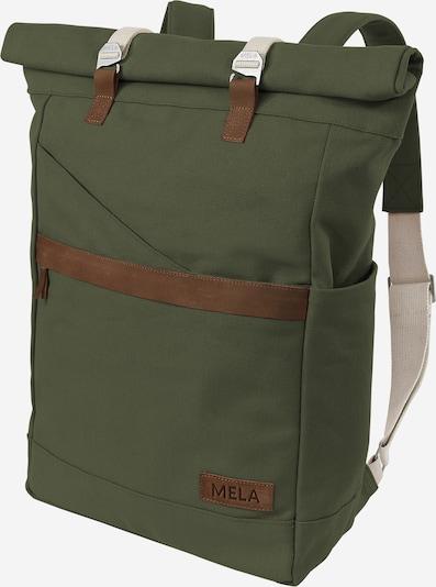 MELAWEAR Rucksack 'Ansvar I' in beige / braun / oliv, Produktansicht