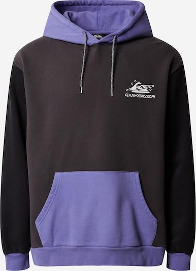 QUIKSILVER Sportsweatshirt 'Heritmidblk' in de kleur Lila / Zwart, Productweergave