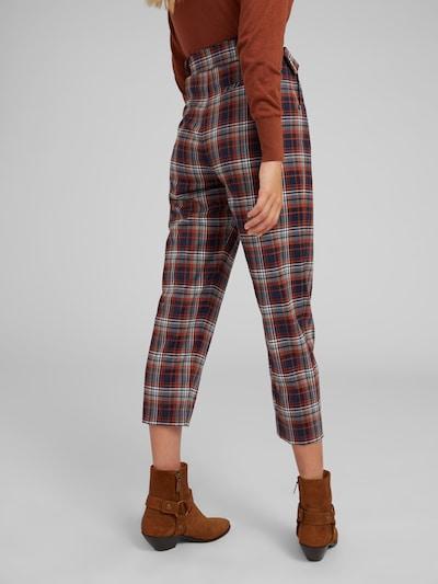 EDITED Pantalon à pince 'Justine' en bleu / rouille: Vue de dos