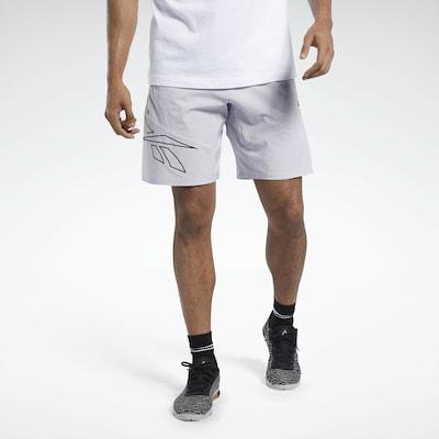 REEBOK Sportbroek in de kleur Lichtgrijs / Zwart: Vooraanzicht