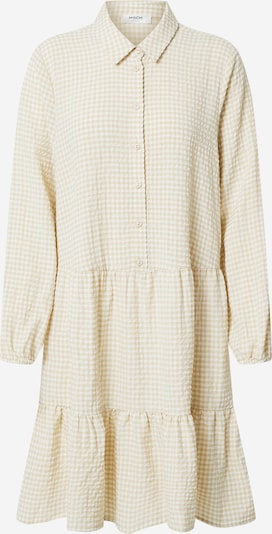 MOSS COPENHAGEN Shirt dress 'Lauralee Geia' in beige / white, Item view