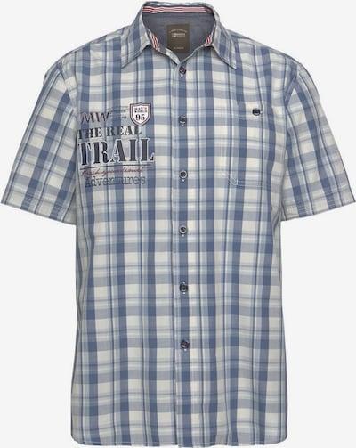 Man's World Kurzarmhemd in blau / weiß, Produktansicht