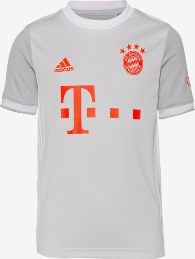 ADIDAS PERFORMANCE Trikot 'FC Bayern München' in grau / hellgrau / orangerot, Produktansicht