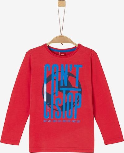 s.Oliver Shirt in blau / knallrot, Produktansicht