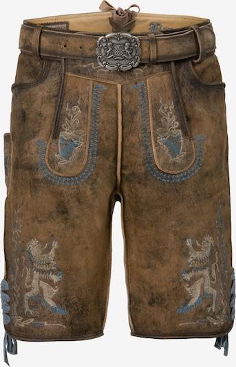 STOCKERPOINT Klederdracht broek 'Bayern-Bua' in de kleur Beige / Blauw / Bruin, Productweergave