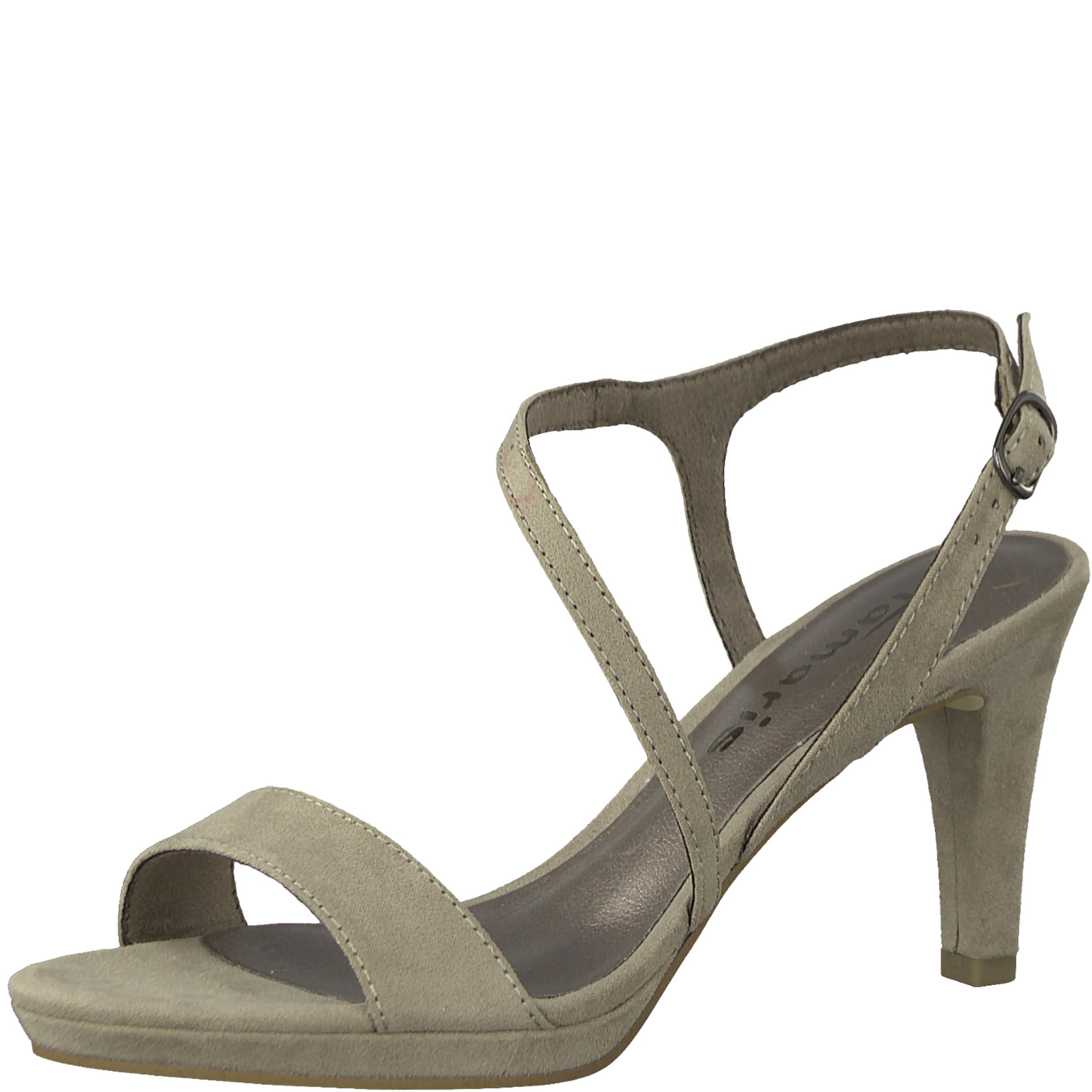 Sandales Tamaris Avec Sangle « Sandale Gris Asymétrique » Jfzi5