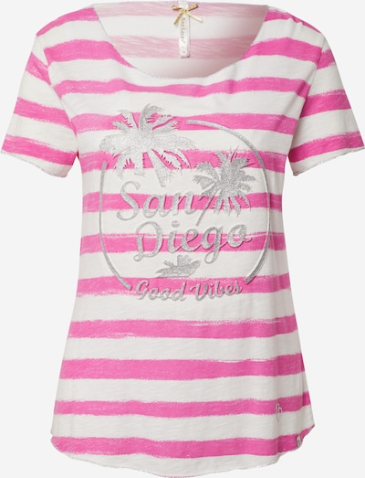 Key Largo T-Shirt 'San Diego' in pink / silber / weiß, Produktansicht
