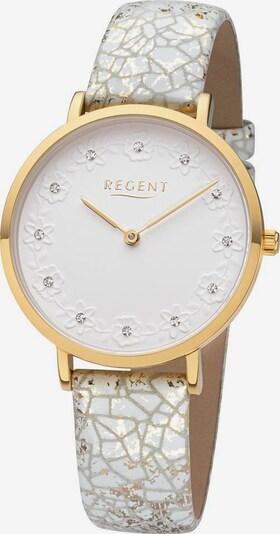 REGENT Analoguhr  'BA-663 3226.75.10' in ecru / gold, Produktansicht