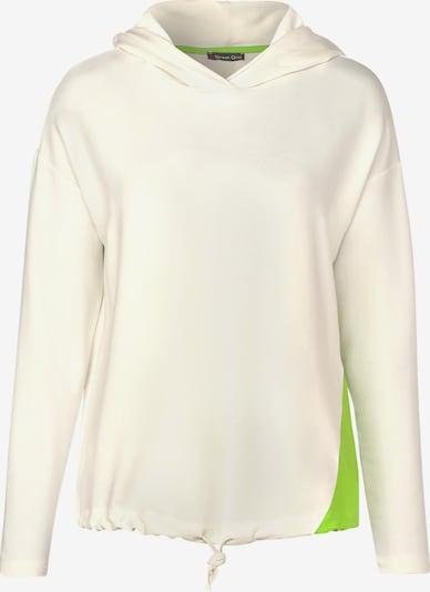 STREET ONE Sweatshirt in neongrün / weiß, Produktansicht
