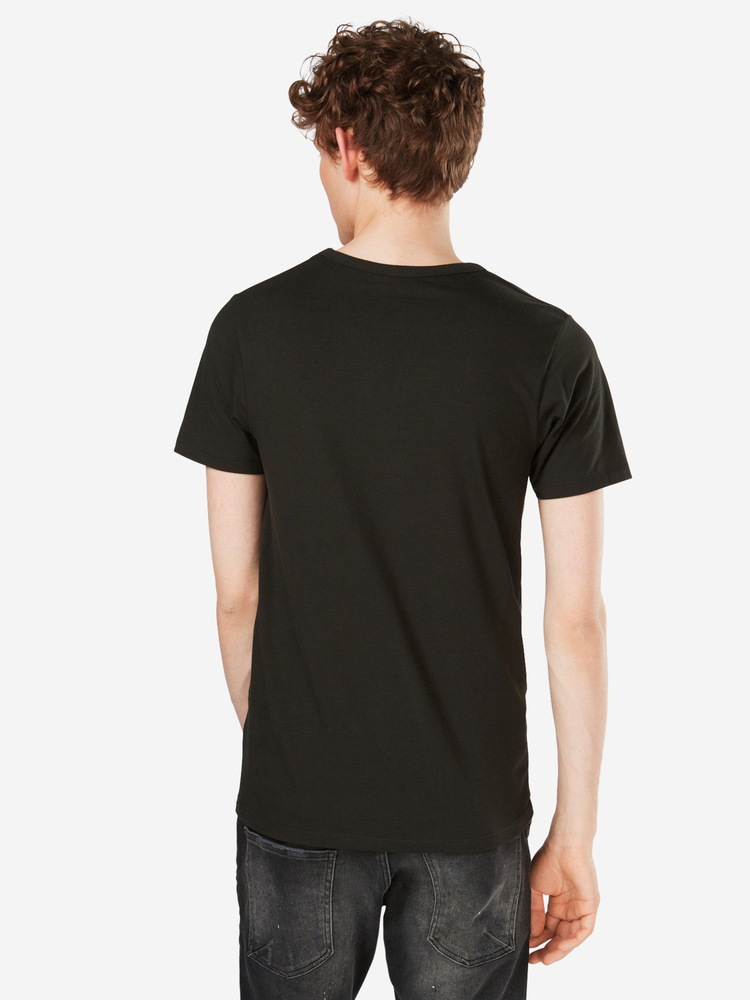 s Noos' T Tee Jones V In neck S Schwarz shirt 'basic Jackamp; FKTJu351cl