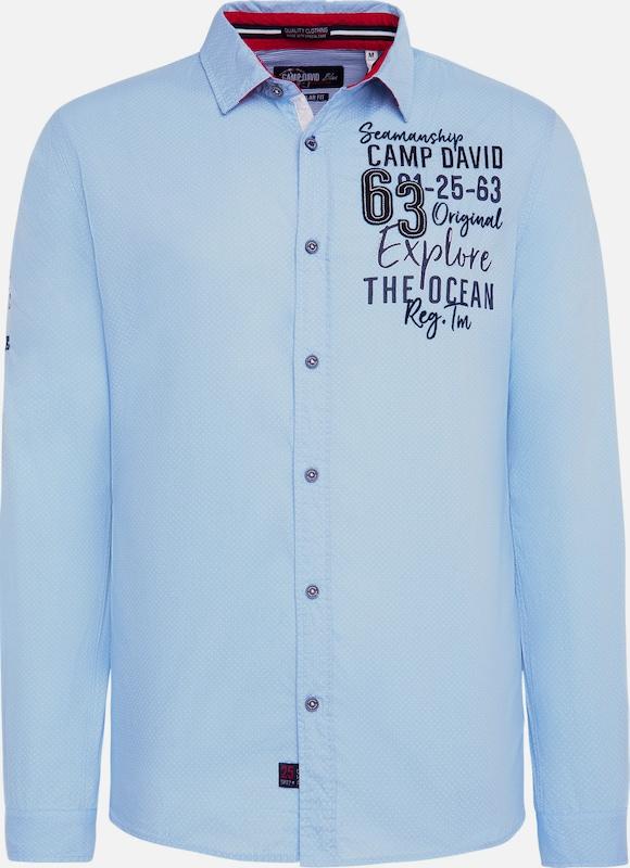 camp david jacke blau weiss