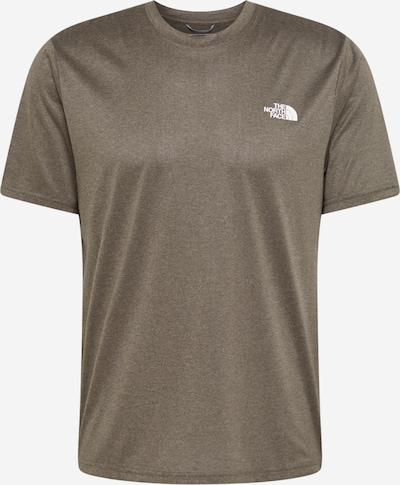 THE NORTH FACE Functioneel shirt 'Reaxion Amp Crew' in de kleur Olijfgroen, Productweergave